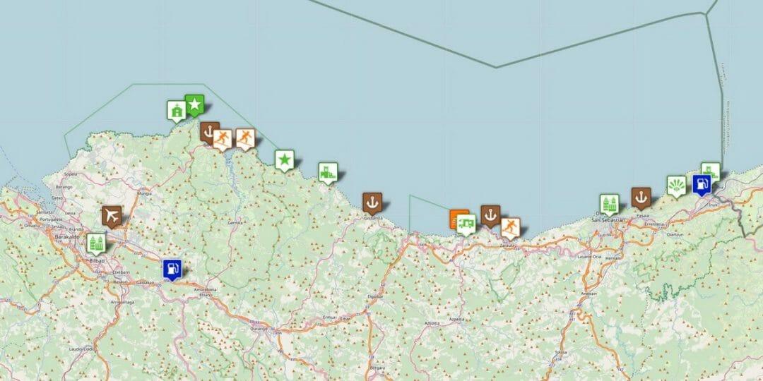 Karte Baskische Küste