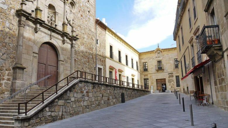 Plaza de Santa Ana in Plasencia