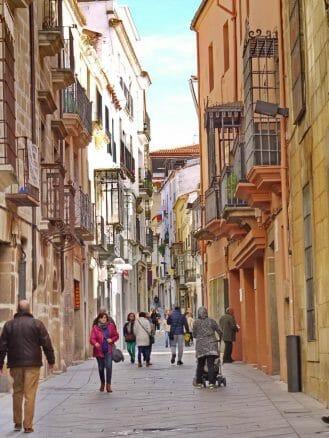 Gasse in der Altstadt von Plasencia