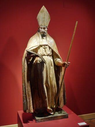 Figur des Heiligen San Basileo im Museum der Kathedrale