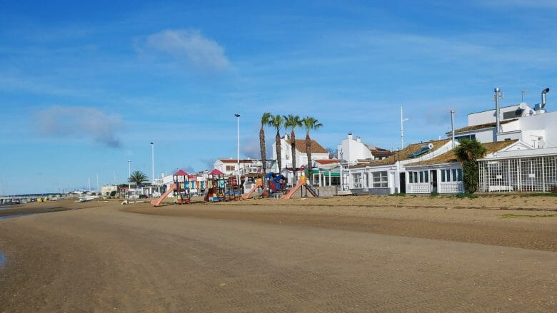 Blick vom Strand des