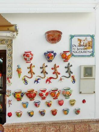 Andenken aus Keramik in Mijas