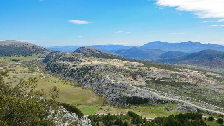 Aussicht vom Berg Picacho auf den Naturpark Sierras Subbéticas