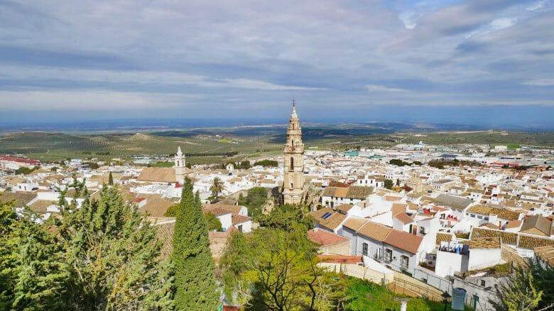 Blick vom Mirador Balcón de Andalucía auf Estepa