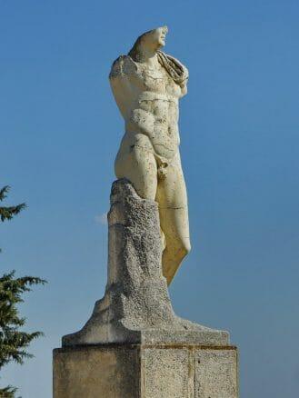 Kopie eines Standbilds des Kaisers Trajan in Itálica