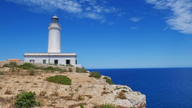 Der Leuchtturm Far de la Mola auf Formentera