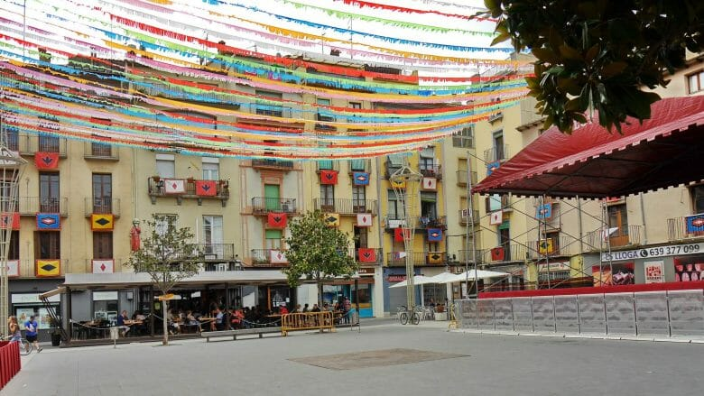 Die Plaça Major von Olot