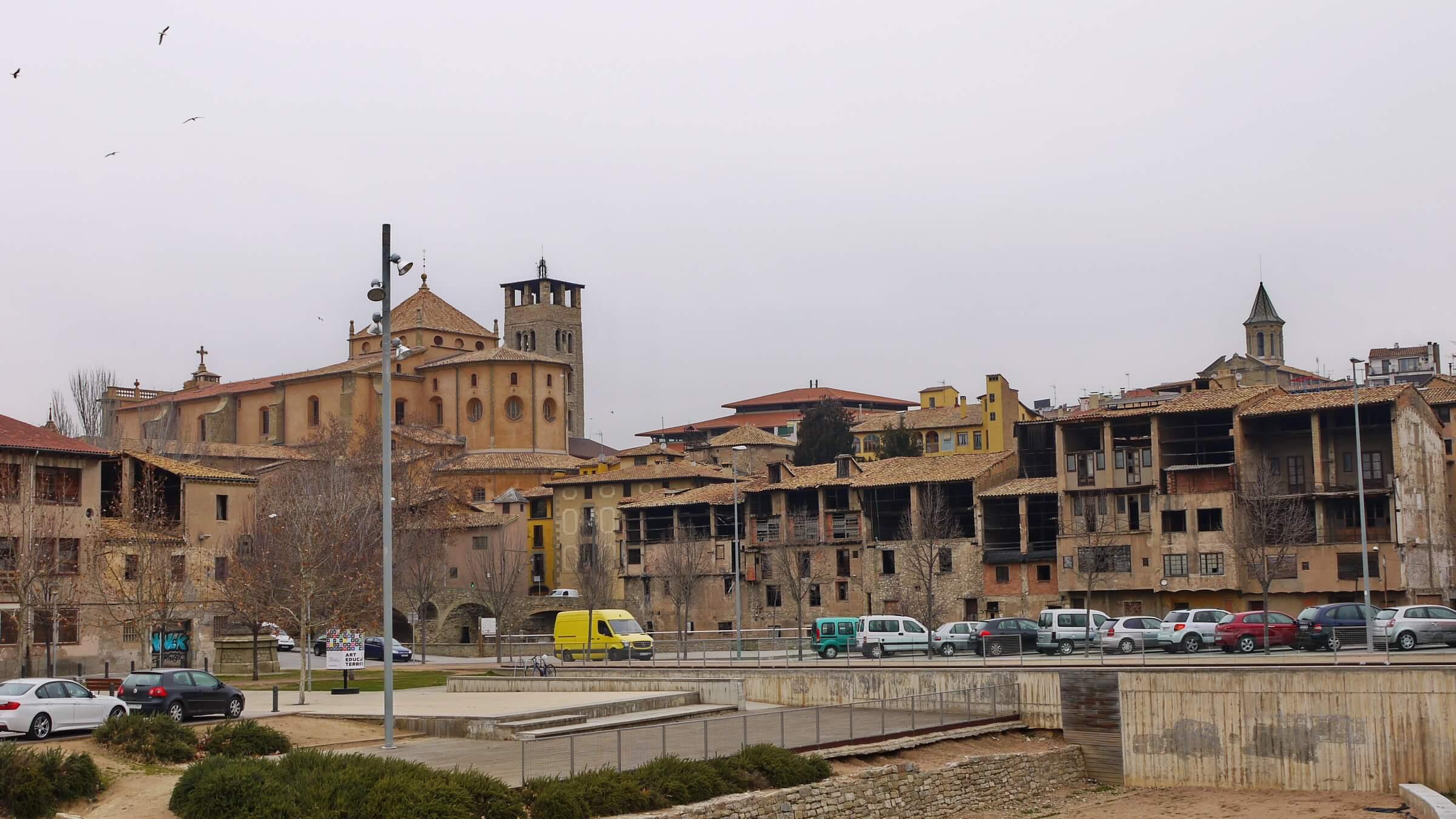 Blick auf die Altstadt von Vic mit der Kathedrale