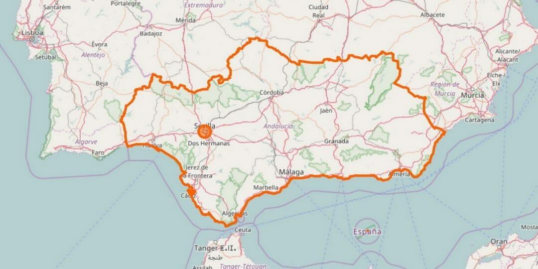 Andalusien Karte
