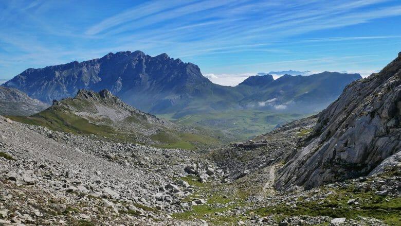 Blick auf die westlichen Picos und die Puertos de Áliva