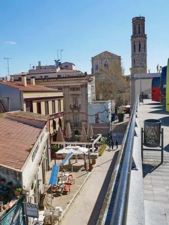 Die Altstadt mit der Kirche Sant Pere
