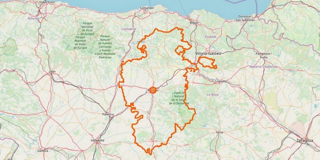 Burgos Provinz Karte