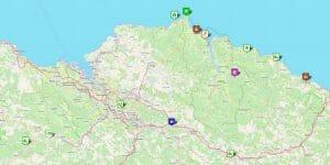 Karte Provinz Bizkaia (Vizcaya): Reiseziele, Städte und sehenswerte Orte