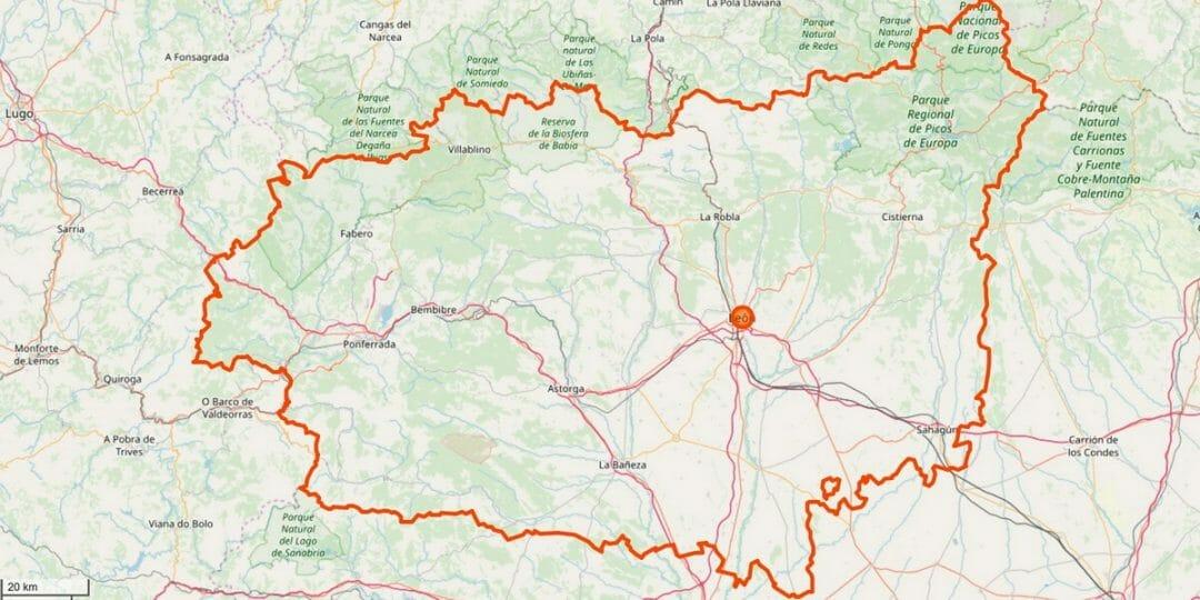 Léon Provinz Karte