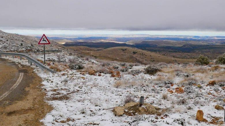 Berglandschaft in der Provinz Teruel in Aragón
