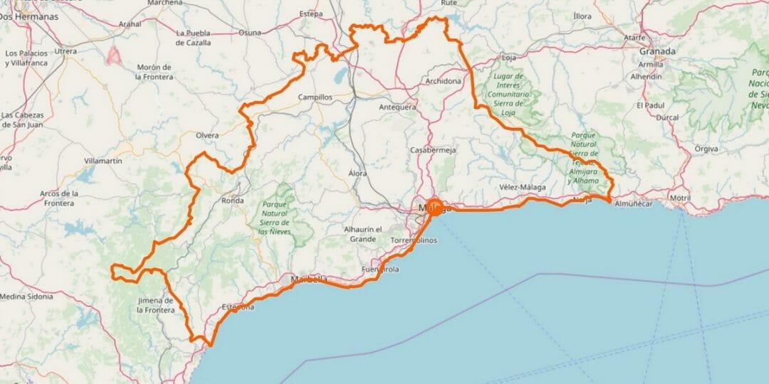 Costa del Sol Karte / Málaga Provinz Karte: Reiseziele, Reisetipps zu Städten und Urlaubsorten