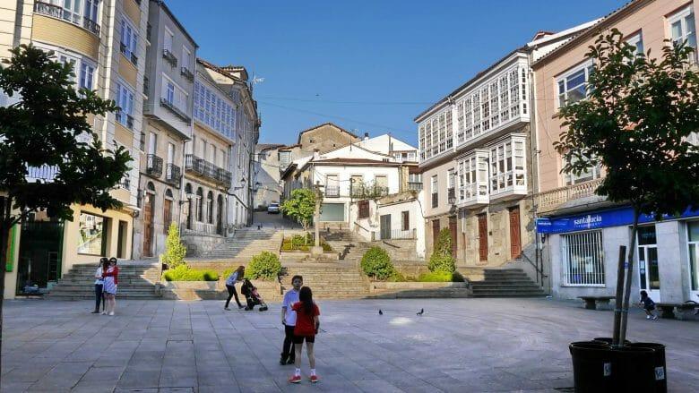 Praza España in Monforte de Lemos