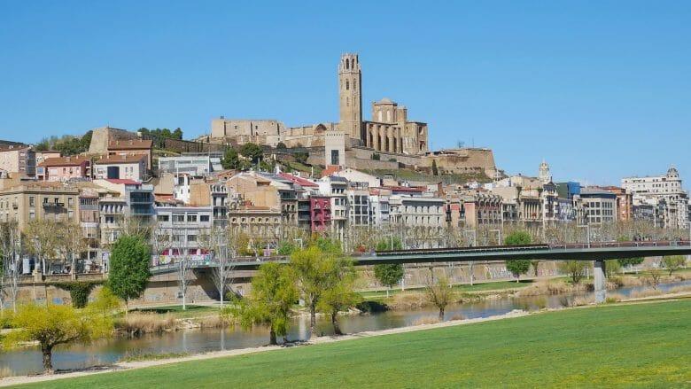 Blick auf das Zentrum und die Kathedrale von Lleida