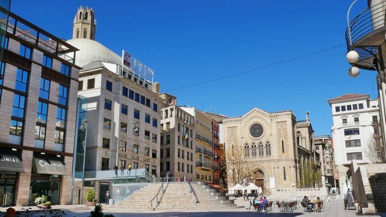 Platz Plaça de Sant Joan in Lleida