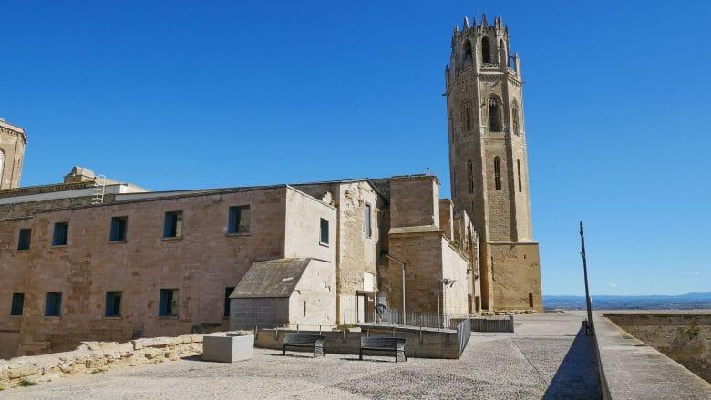 Seitenansicht der Kathedrale von Lleida