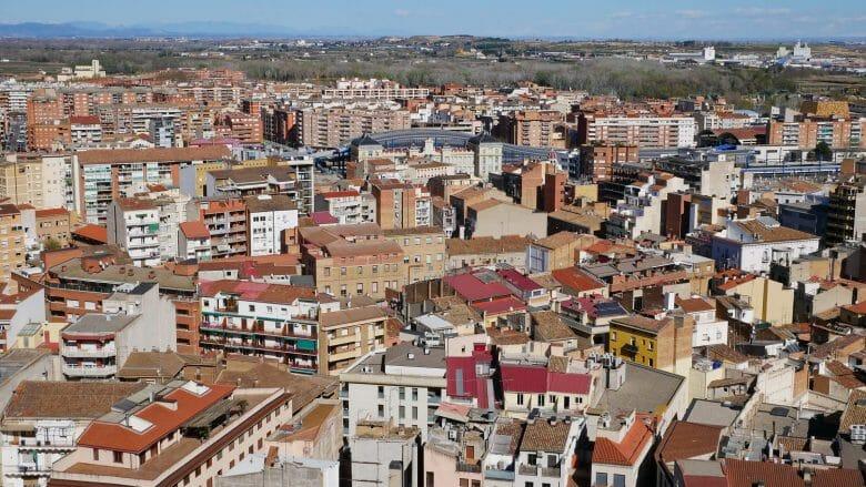 Blick auf die Stadt Lleida