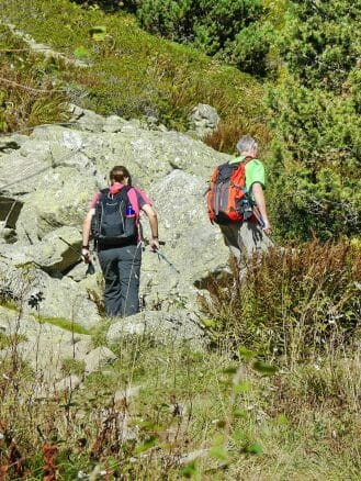 Wandern in der Pyrenäen, hier Vall de Núria
