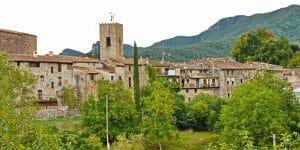 Santa Pau, ein mittelalterliches Dorf in der Provinz Girona
