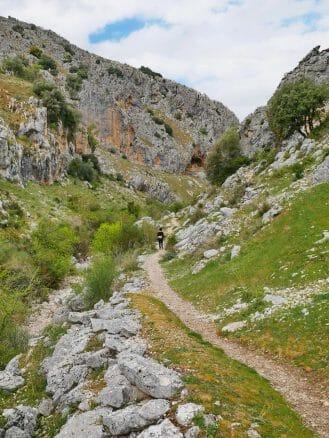 Wanderweg im Naturpark Parque Natural de las Sierras Subbéticas