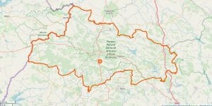 Sierra de Aracena Karte