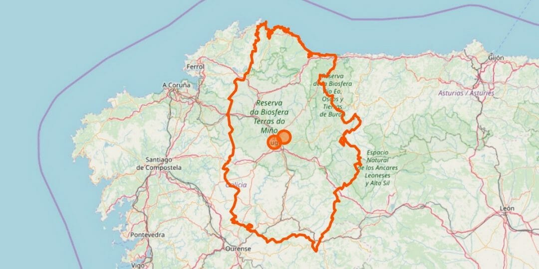 Lugo Provinz Karte