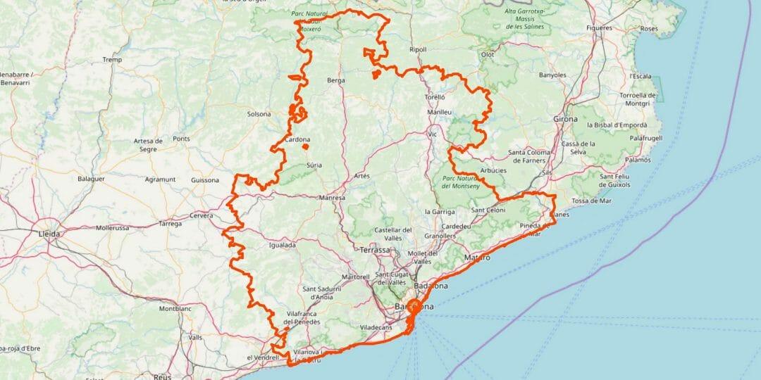 Barcelona Karte