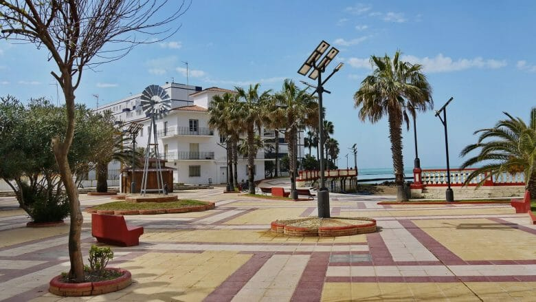 Strandpromenade von Chipiona