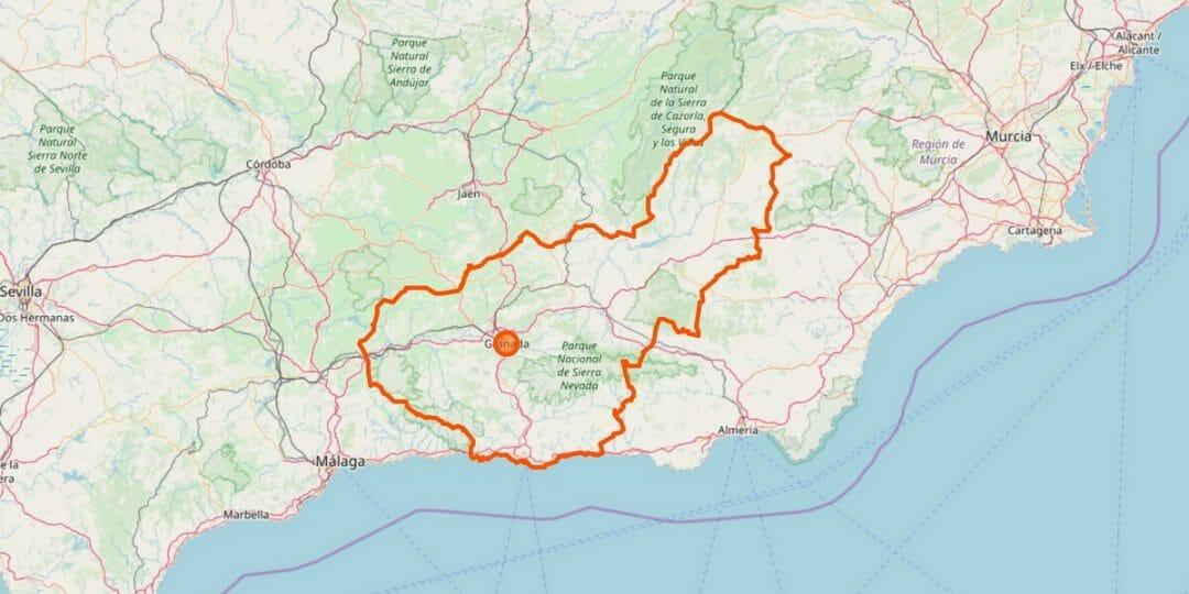 Granada Provinz Karte