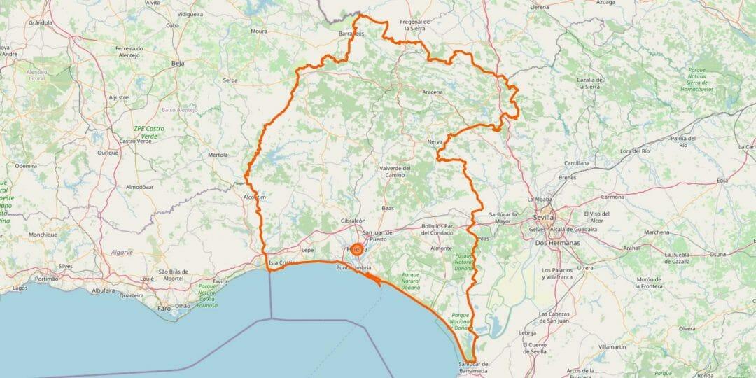 Huelva Karte (Provinz)