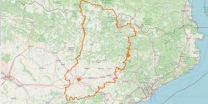 Lleida Karte Provinz