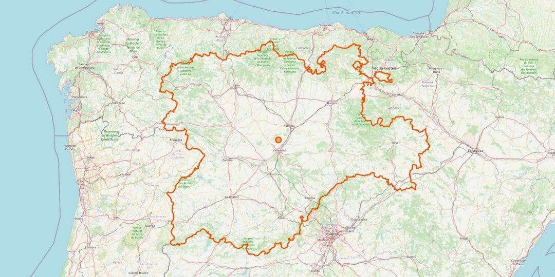 Kastilien und León Karte