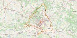 Madrid Karte (Gemeinschaft)