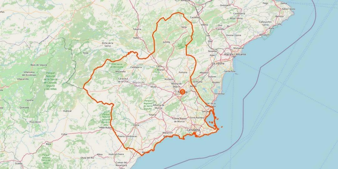 Murcia Karte (Region)
