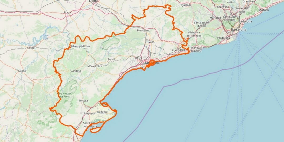 Tarragona Provinz Karte
