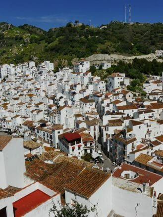 Weiße Häuser in Casares