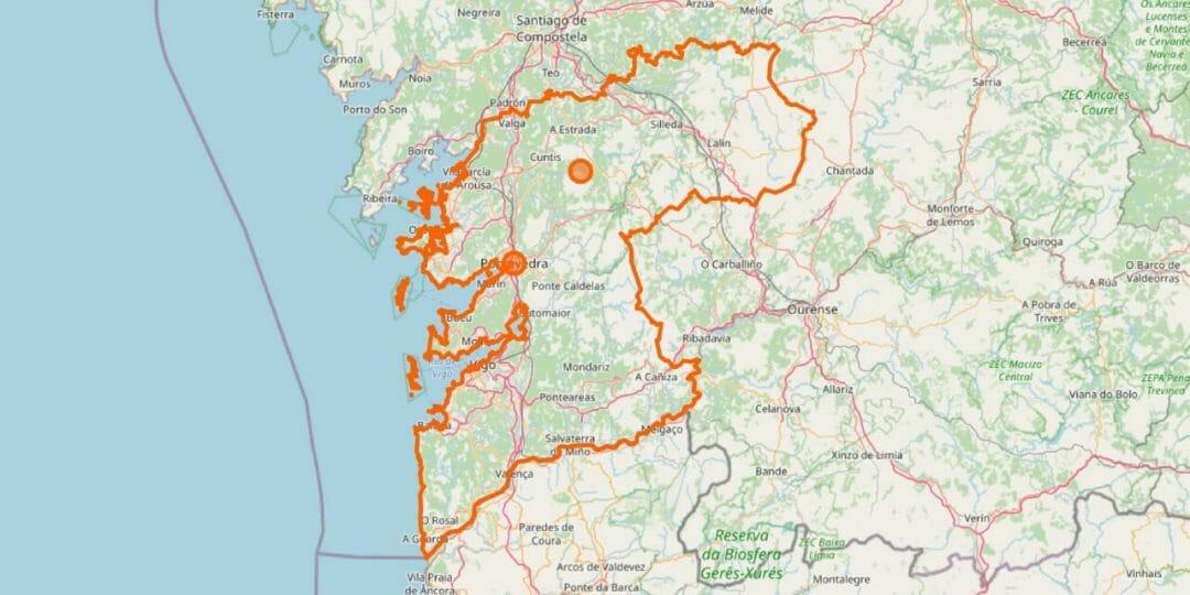Pontevedra Karte Provinz