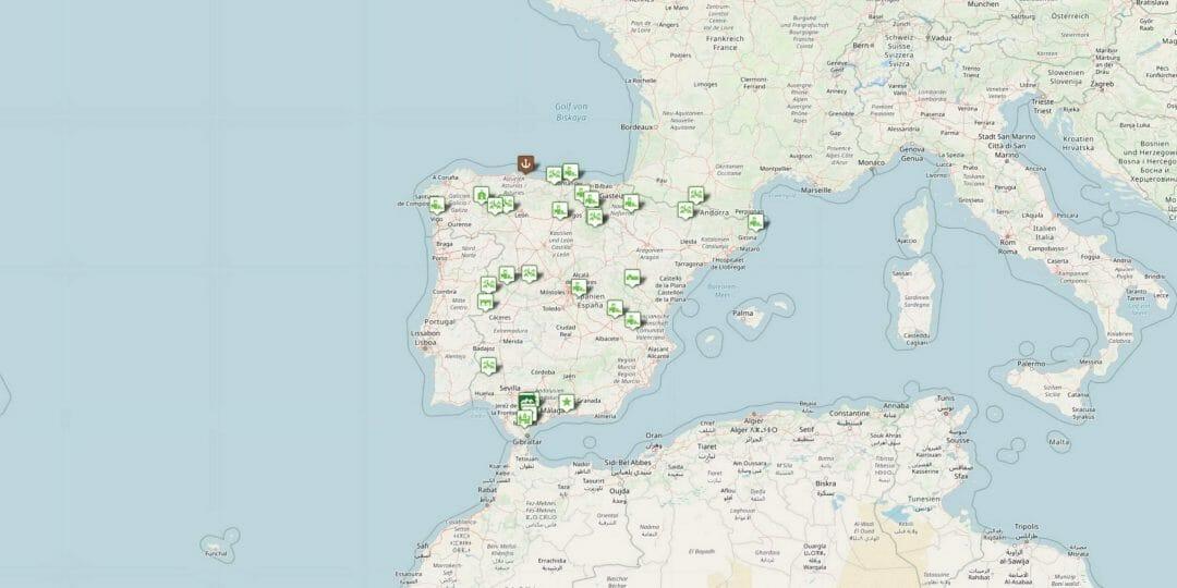 Spanien: Karte Schöne Dörfer