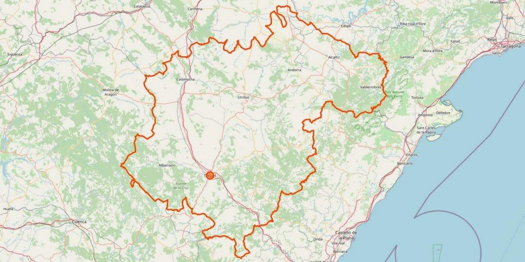 Teruel Karte (Provinz)